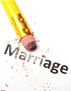 image annulment pencil erasing word marriage