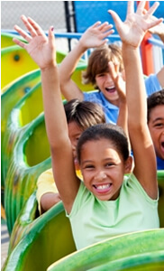 photo: happy children rollercoaster after parents' divorce