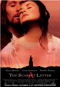 image: movie poster for The Scarlet Letter