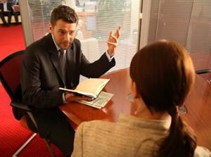 photo: divorce lawyer meets client in Memphis TN